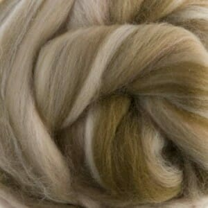 Merino and silk fibre blend.
