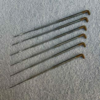 A set of six 40 gauge spiral felting needles.