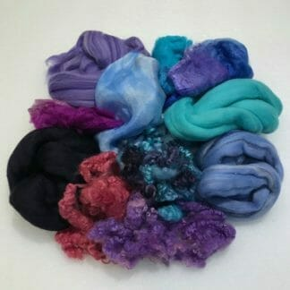Nuno Felted Scarf Kit materials.