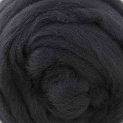 Black Merino wool Roving.
