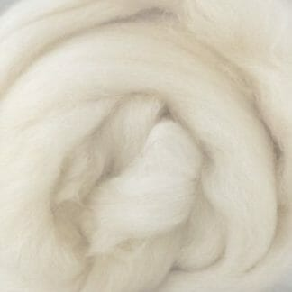 Natural white Merino wool fibres.